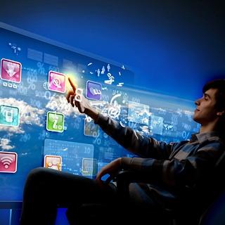 Homescreen televisie van de toekomst