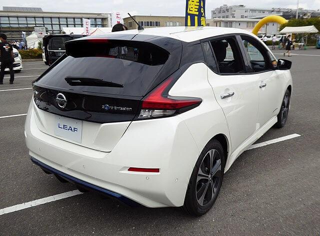 Nissan leaf e+ achterkant